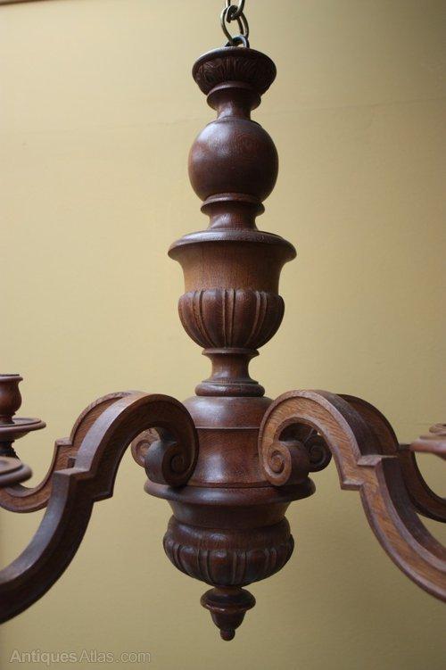 Antiques Atlas Fabulous Quality English Antique Oak Chandelier - Antique Wooden Chandeliers - Chandelier Designs