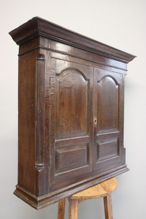 Antique Wall Cupboards ... - Georgian Antique Oak Wall Hanging Cupboard. - Antiques Atlas