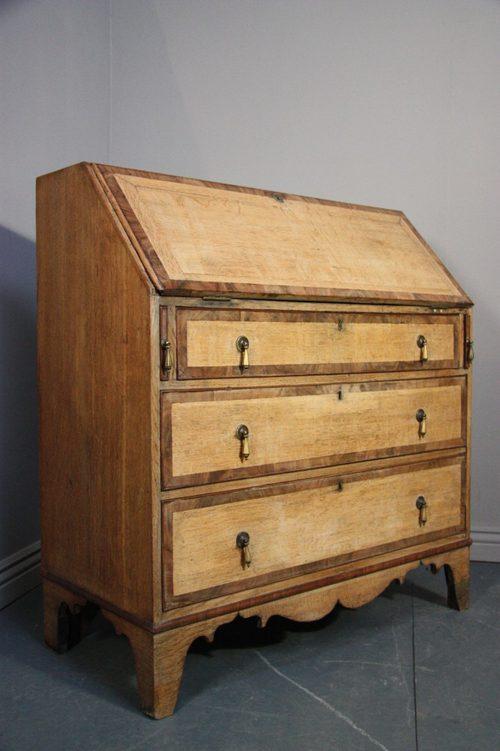 Georgian Antique Oak Writing Bureau Now
