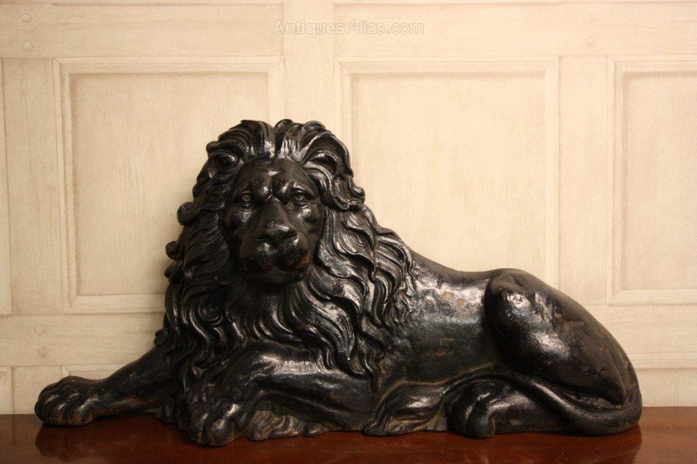 Antiques Atlas Handsome Antique Cast Iron Lion Door Stop