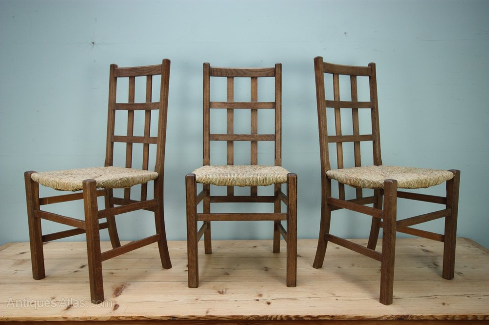 Heals Antique Oak Dining Chair 3 Available