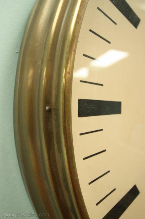Antiques Atlas Large 1930s English Wall Clock By Ferranti