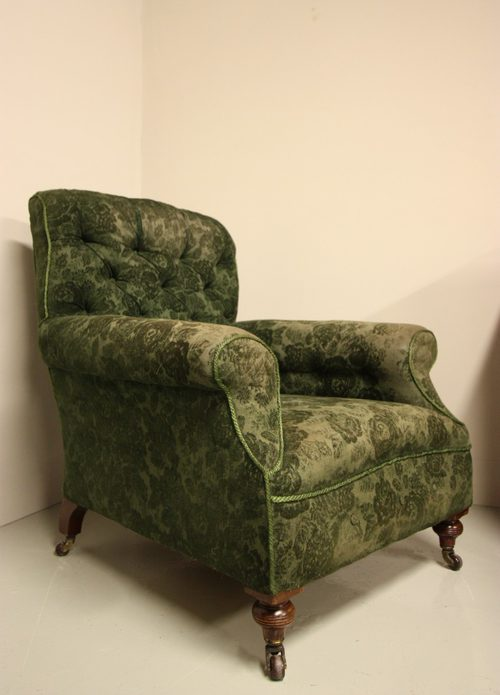 Large Antique Armchair By Shoolbred, London.