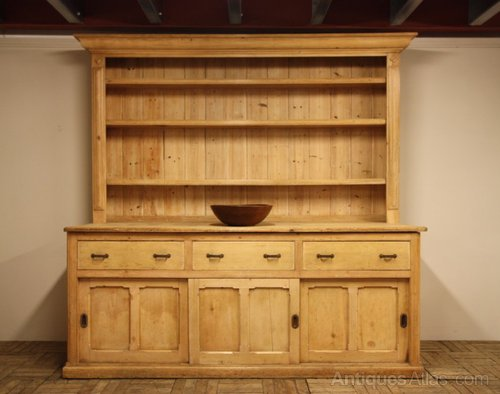 Large Country House Antique Pine Dresser