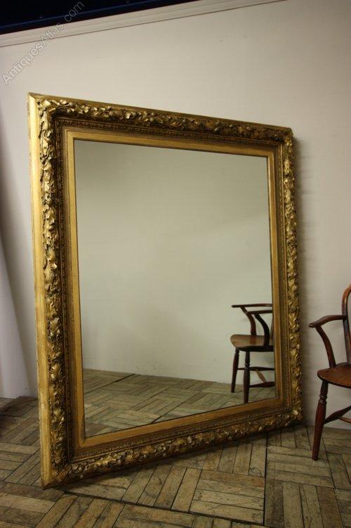 Antiques Atlas Large English Antique Gold Leaf Mirror