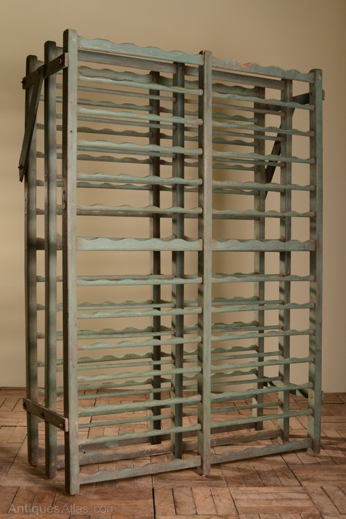 Painted Antique Wooden Wine Rack