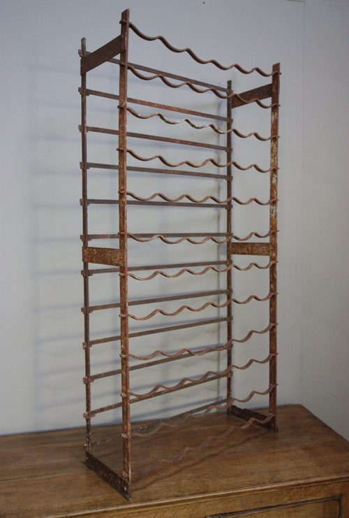 Mid-Victorian Antique Iron Wine Rack. Holds 72. - Mid-Victorian Antique Iron Wine Rack. Holds 72. - Antiques Atlas