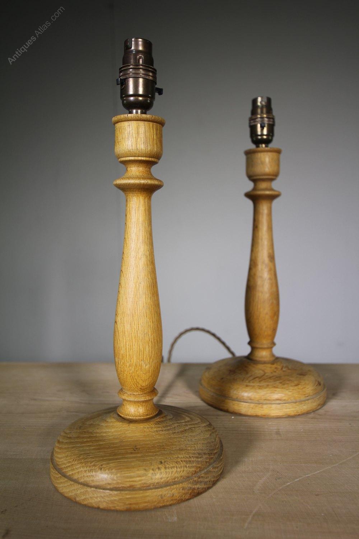 Antiques Atlas An Oak 1930's Table Lamp