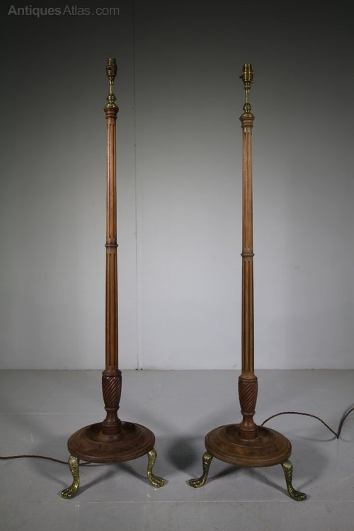 Peachy Antiques Atlas Pair Of Edwardian Antique Floor Lamps Rewired Wiring Database Pengheclesi4X4Andersnl