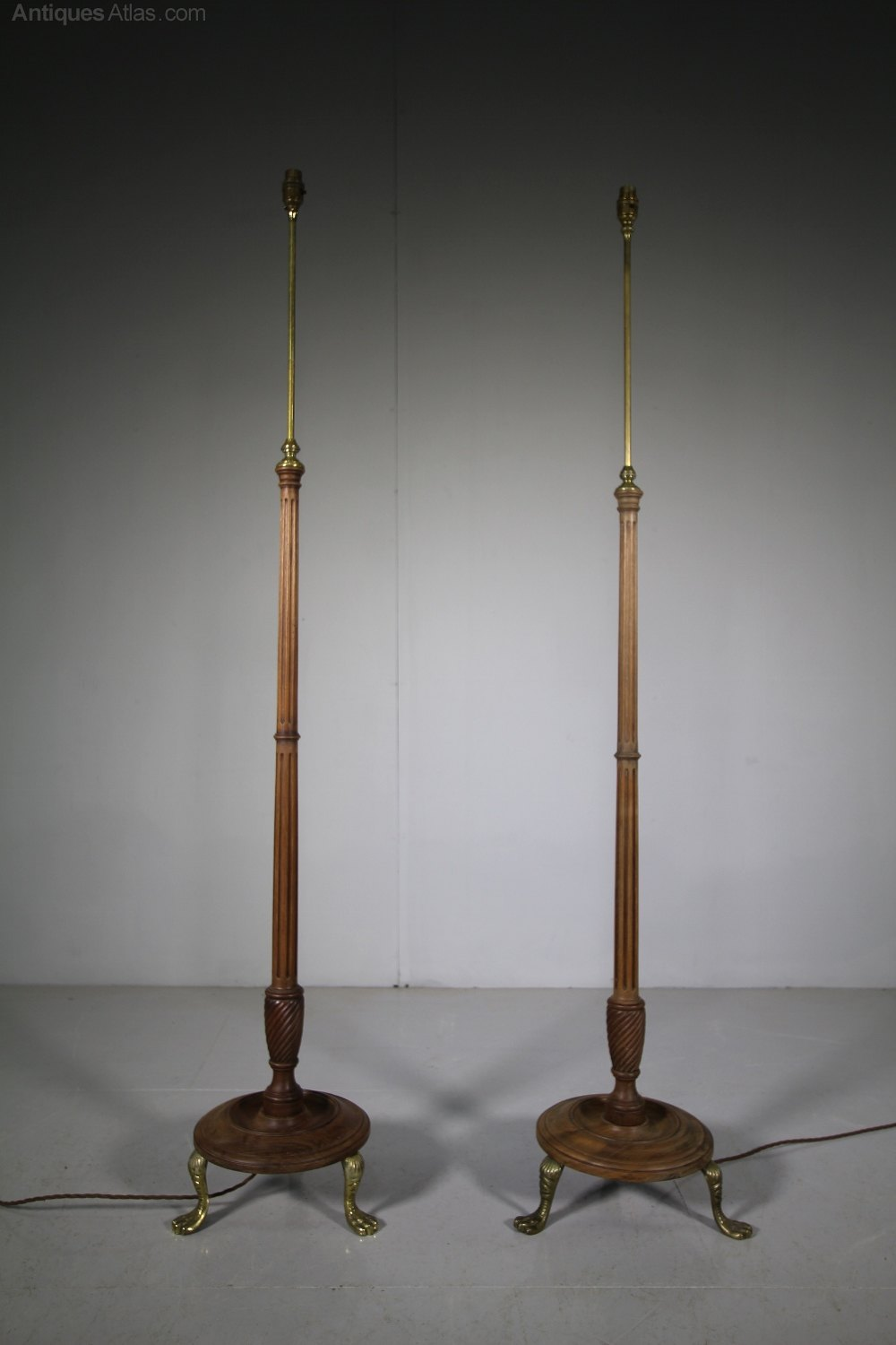 Antiques Atlas Pair Of Edwardian Antique Floor Lamps Rewired