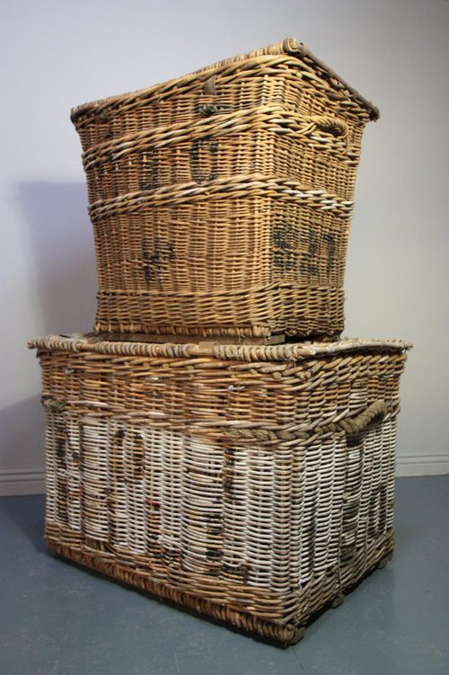 Antiques Atlas Pair Of Victorian Antique Lidded Wicker