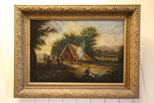 antiques atlas primitive antique oil painting in period frame. Black Bedroom Furniture Sets. Home Design Ideas