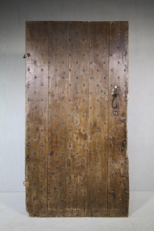 Antiques Atlas Rare 17th Century Studded Oak Antique Door