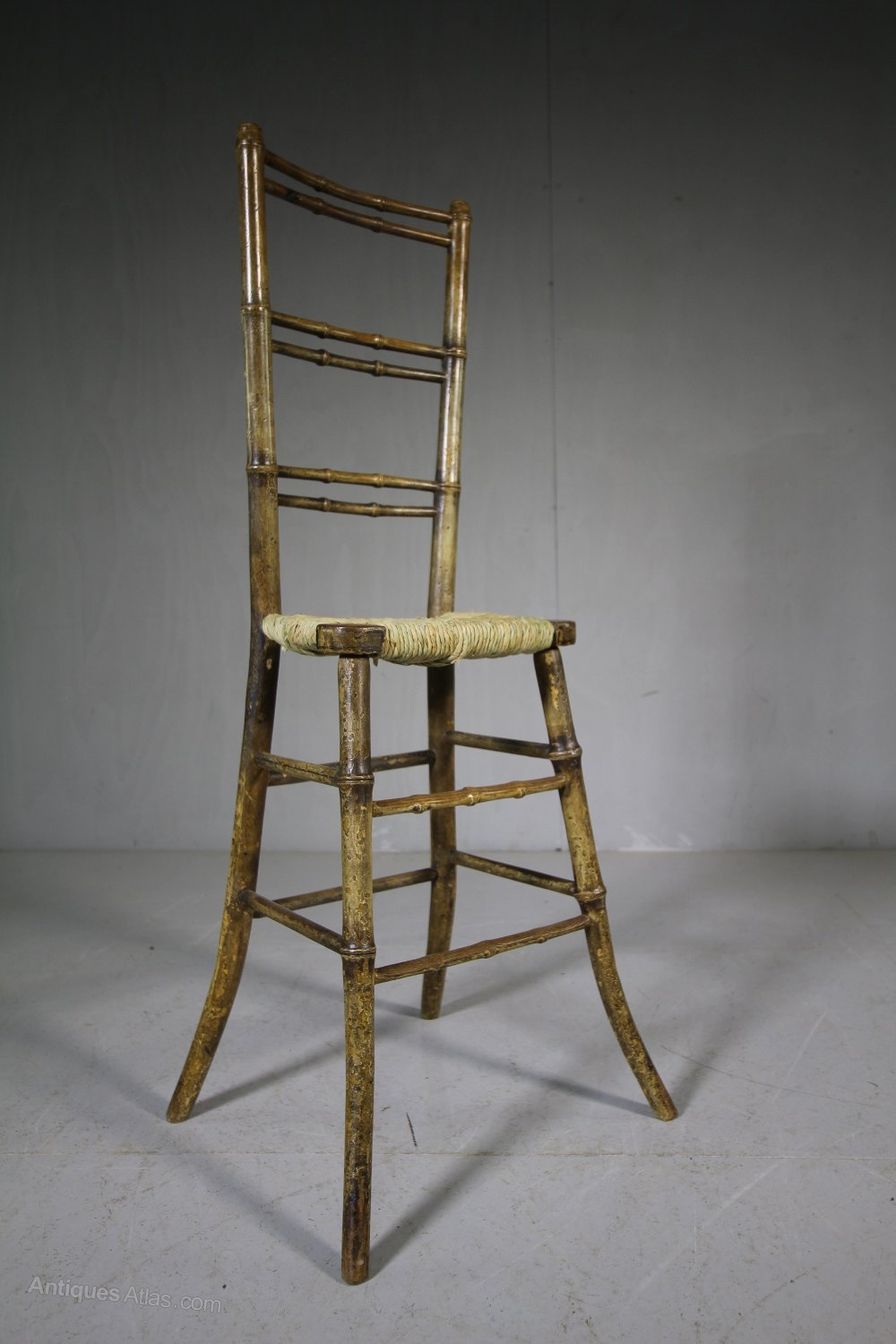 Regency antique child 39 s chair in original paint for Child on chair