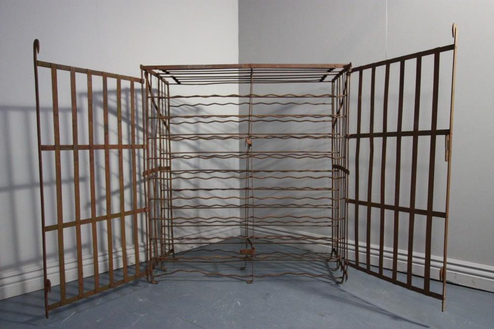 Antiques Atlas Antique Wrought Iron Wine Cage Rack