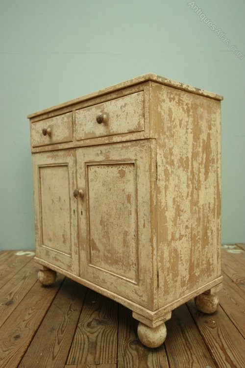 regency small antique cupboard in original paint - Antique Cupboard