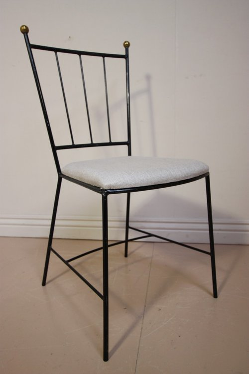 Set Of 1950s Wrought Iron Dining Chairs