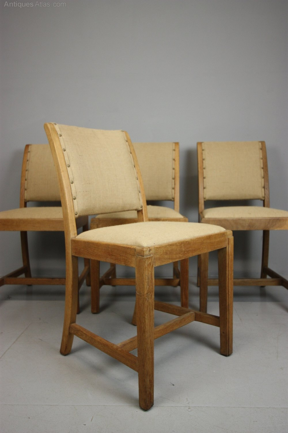 set of four 1930 39 s heals oak dining chairs antiques atlas. Black Bedroom Furniture Sets. Home Design Ideas