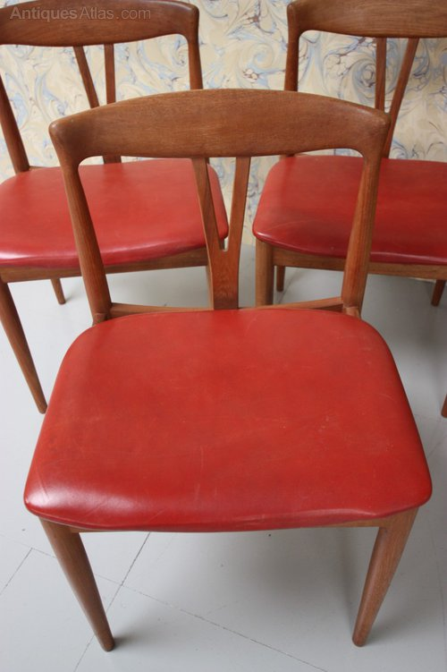 Set Of Six 1950s Danish Teak Dining Chairs ...