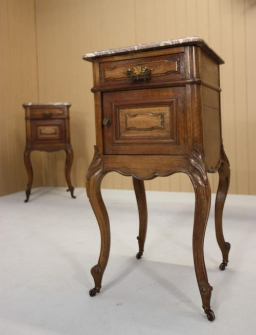 Superb Pair of French Antique Bedside Cabinets ... - Superb Pair Of French Antique Bedside Cabinets - Antiques Atlas