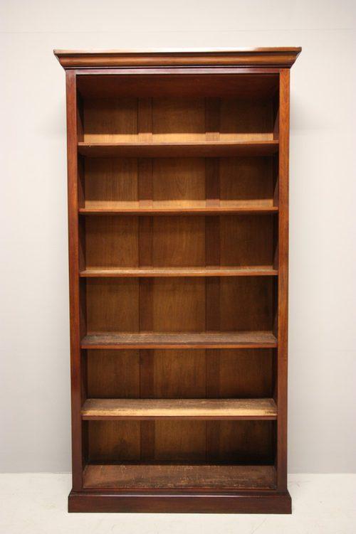 Tall Antique Mahogany Open Bookcase Antiques Atlas