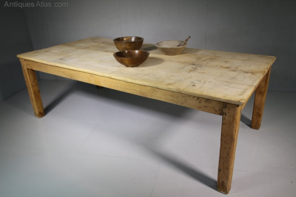 Very Antique Sycamore Farmhouse Dining Table Antiques Atlas