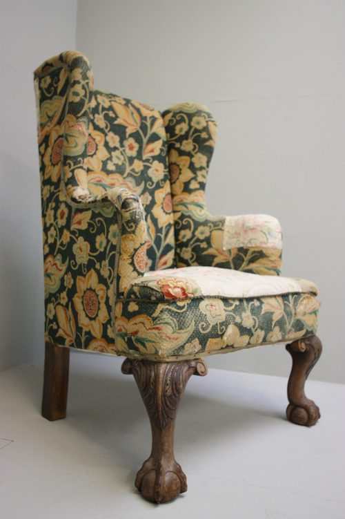 Wonderful English Antique Wing Chair.