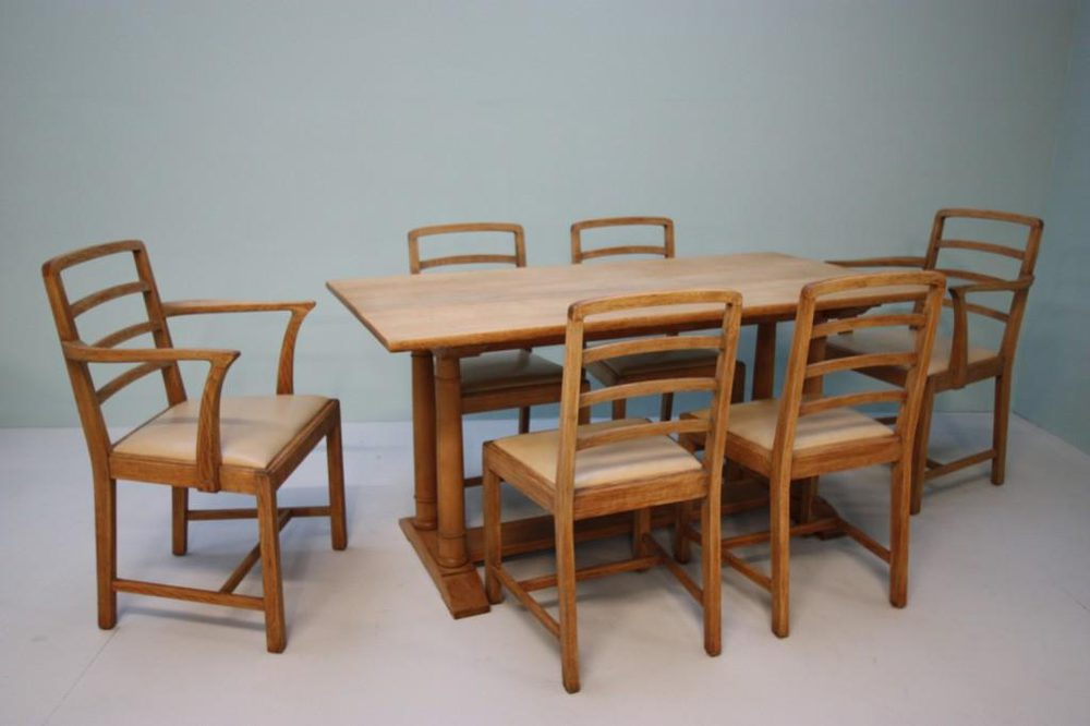 wonderful heals antique oak dining table & chairs - antiques atlas