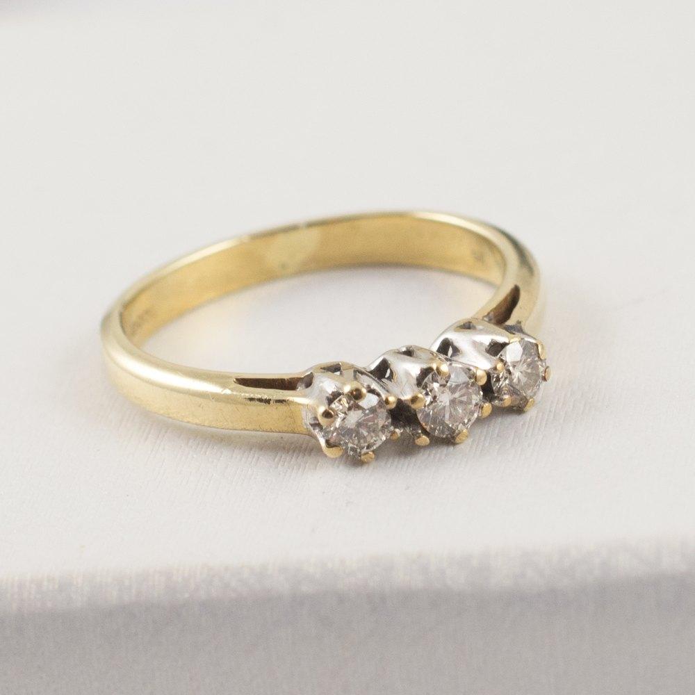 antiques atlas antique diamond trilogy ring 9ct gold