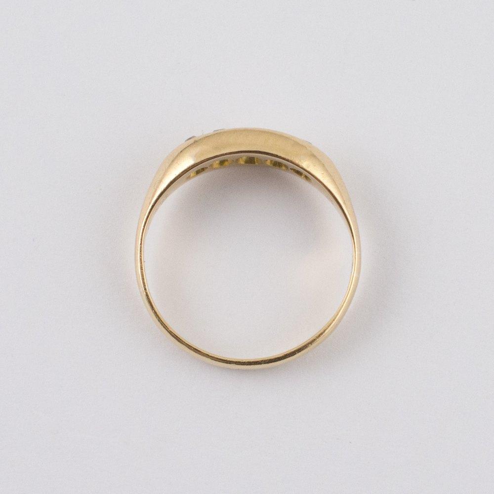 antiques atlas antique five stone diamond ring 18ct gold
