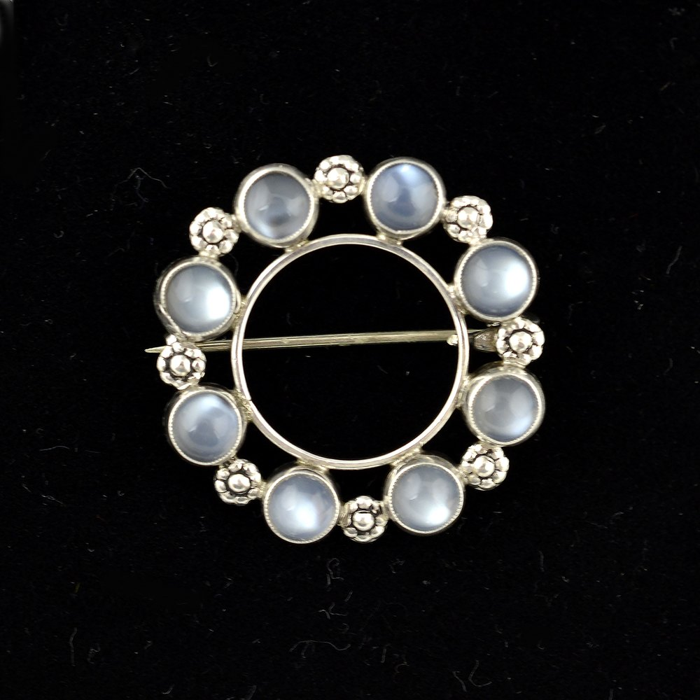 novica made necklace hand light brooch silver unique pendant luminous jewelry sterling moonstone at