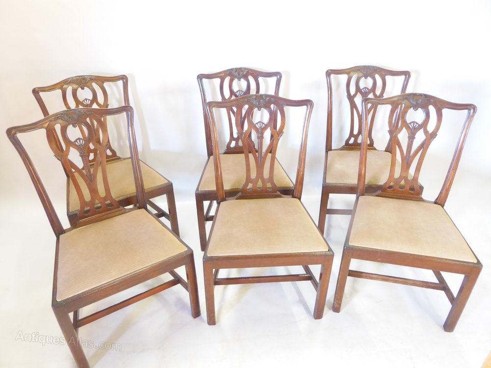 Six English 18th Century Chairs ...