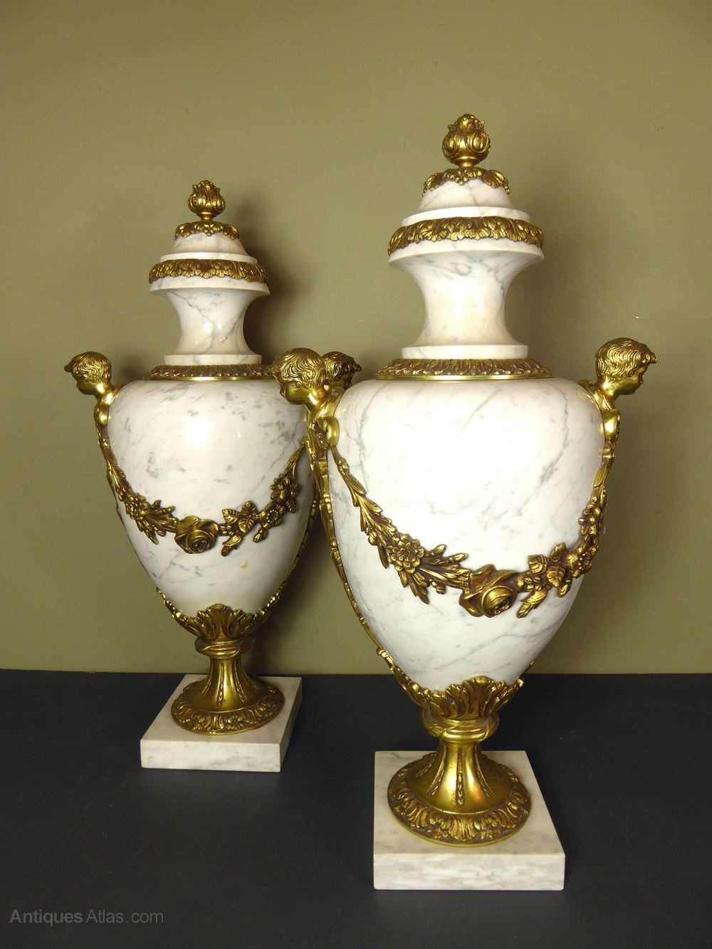 Antiques atlas large pair of marble brass vase cassoulettes large pair of marble brass vase cassoulettes marble reviewsmspy