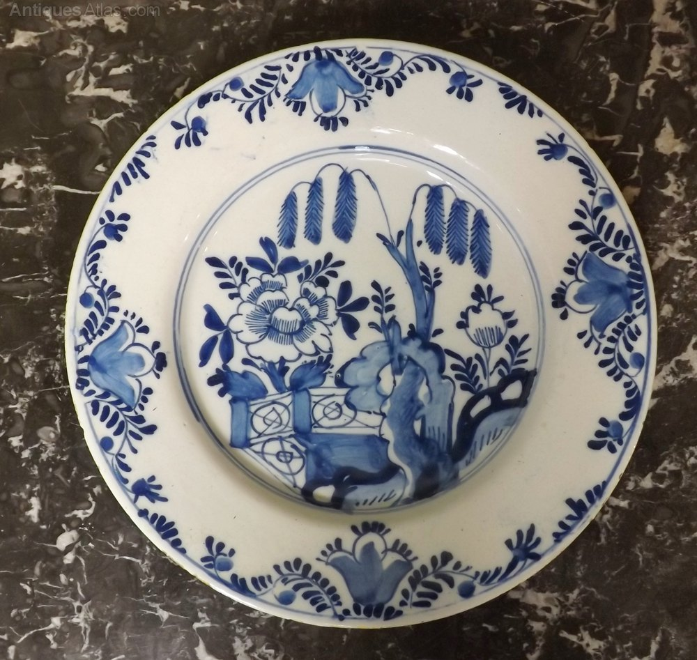 ... delft plate 18th century & Antiques Atlas - Pair 18th C Delft Plates