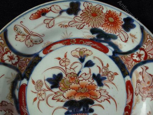 Pair of 18th C Imari Plates Antique Ceramics & Antiques Atlas - Pair Of 18th C Imari Plates