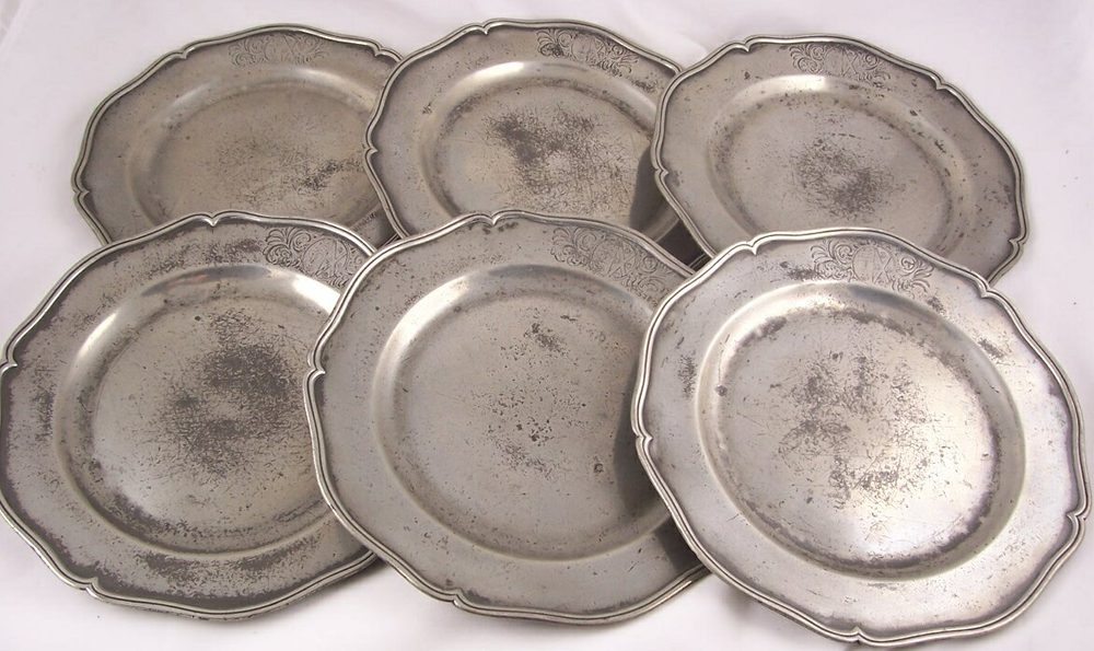 Set of Six 18th C Pewter Plates Antique ... & Antiques Atlas - Set Of Six 18th C Pewter Plates