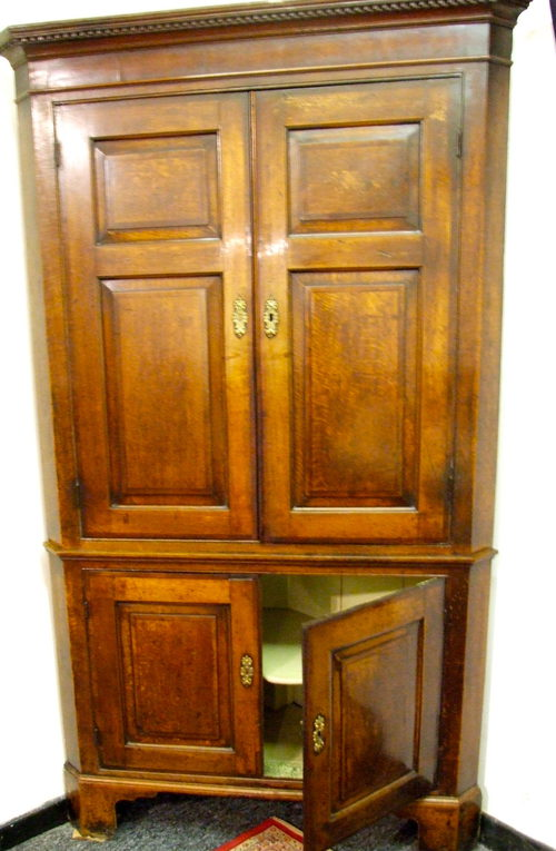 Antique Oak Corner Cupboard - Antique Oak Corner Cupboard - Antiques Atlas