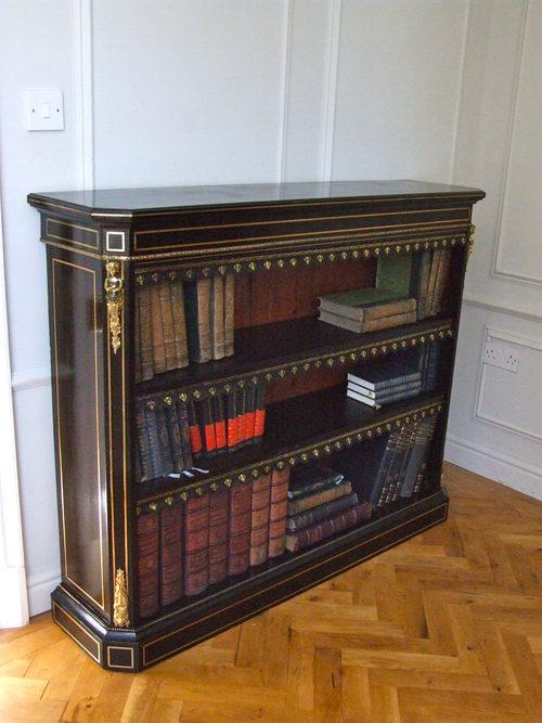 Edwards And Roberts Ebony Brass Low Bookcase