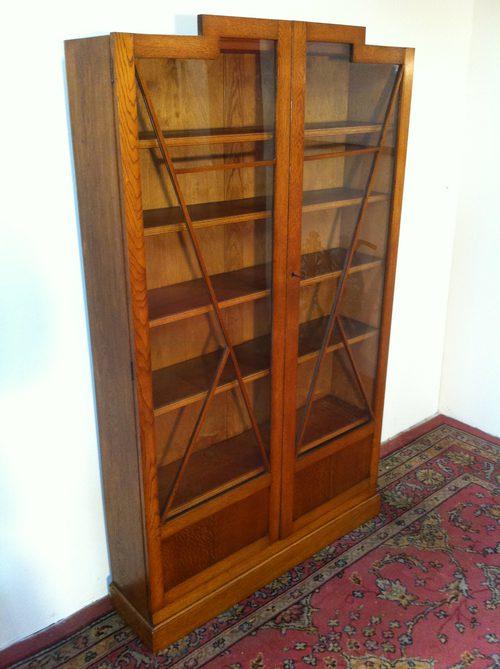 Art Deco Oak Bookcase Antiques Atlas