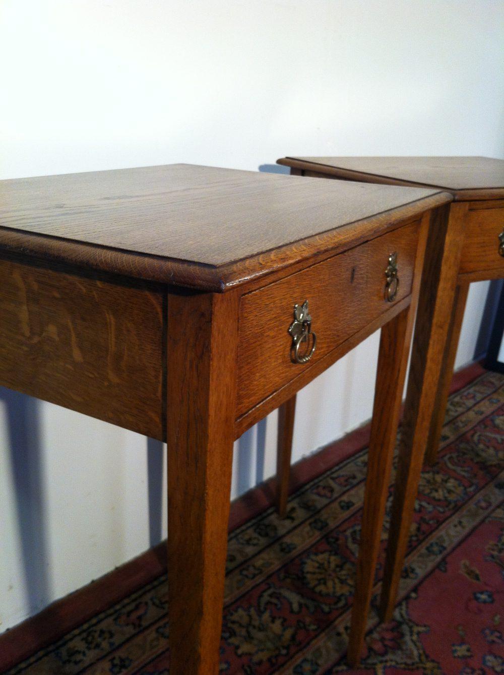 Pair Scottish Oak Side Tables Antiques Atlas