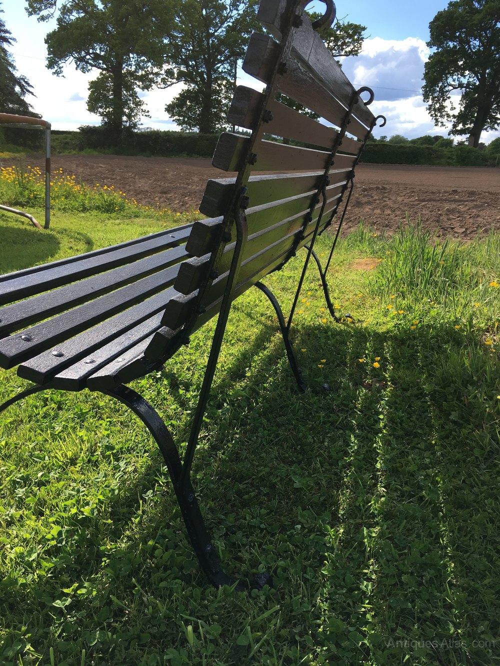 Antiques Atlas Wrought Iron Garden Bench