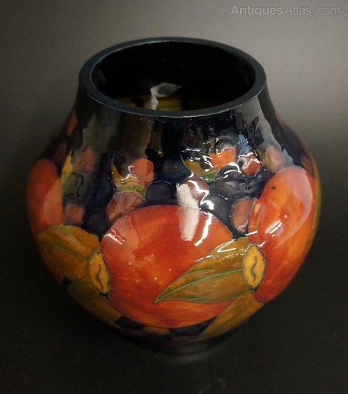 Antiques Atlas A William Moorcroft Globular Pomegranate Vase