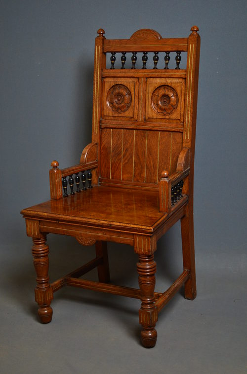 Arts And Crafts Chair In Pollard Oak Antiques Atlas