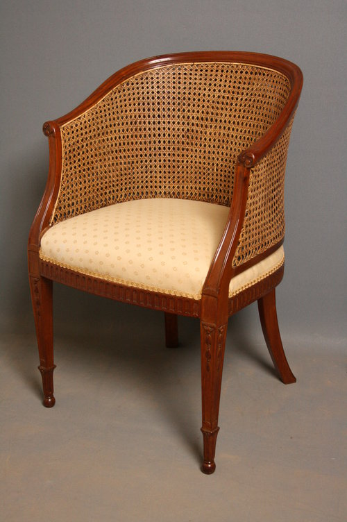 Late Victorian Bergere Chair in Mahogany - Late Victorian Bergere Chair In Mahogany - Antiques Atlas