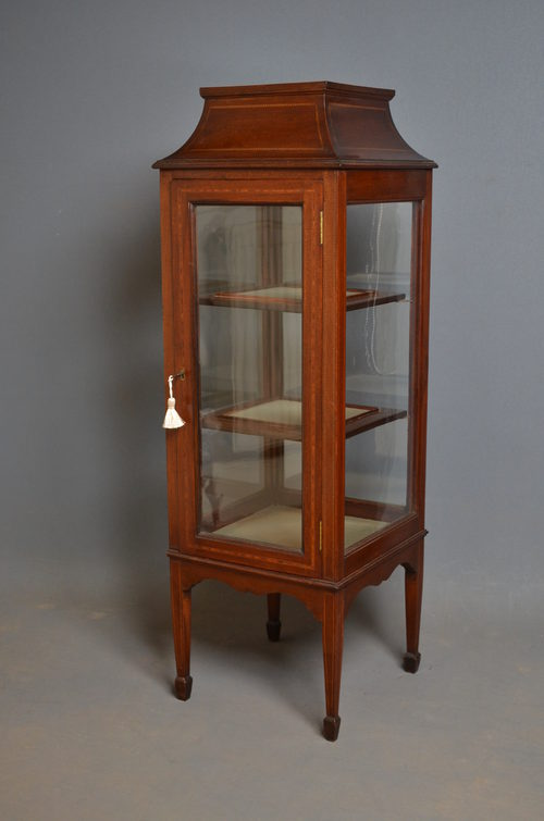 - Edwardian Display Cabinet/ Vitrine - Antiques Atlas