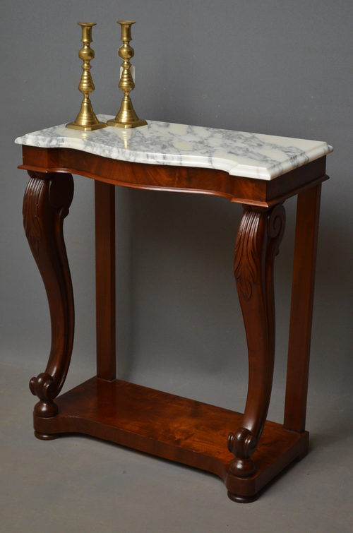 Superior Early Victorian Console Table ...