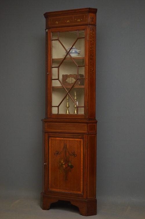Edwardian Corner Cabinet - Edwardian Corner Cabinet - Antiques Atlas