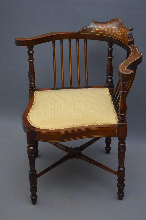Edwardian Corner Chair - Edwardian Corner Chair - Antiques Atlas