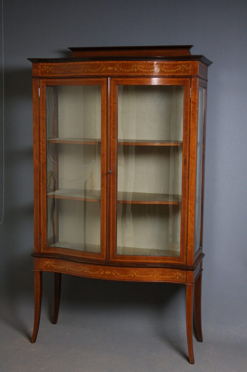 - Edwardian Display Cabinet - Antiques Atlas