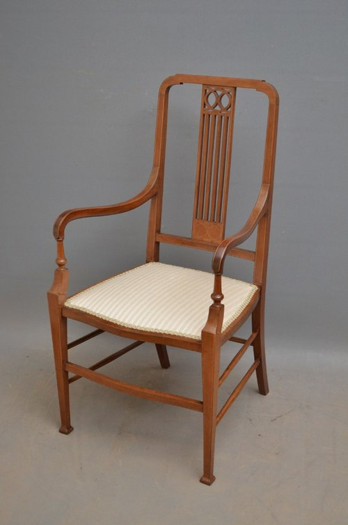 Edwardian Mahogany Armchair - Antiques Atlas